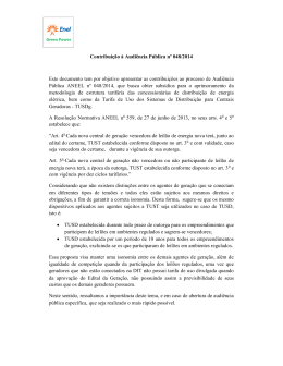 Contribuição à Audiência Pública nº 048/2014 Este documento tem
