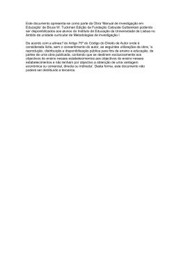 Este documento apresenta-se como parte da Obra `Manual de