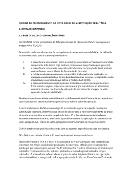 OFICINA DE PREENCHIMENTO DA NOTA FISCAL - Sindcont-SP