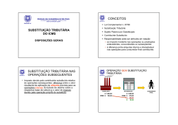 SUBSTITUIÇÃO TRIBUTÁRIA DO ICMS CONCEITOS