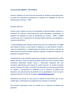 Comunicado MS/PG - 03710/2015