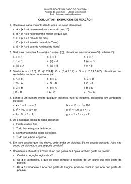 CONJUNTOS - EXERCÍCIOS DE FIXAÇÃO 1 1. Reescreva cada