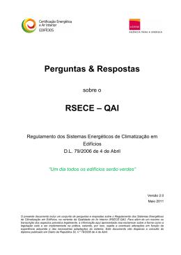Perguntas e Respostas RSECE QAI - ADENE