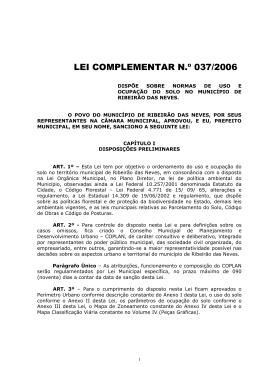 LEI COMPLEMENTAR N.º 037/2006