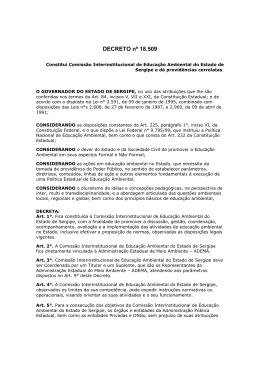 DECRETO nº 18.509 - Secretaria do Meio Ambiente do Estado de