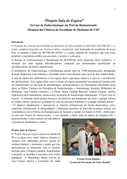 """""""Projeto Sala de Espera"""" - Hospital das Clínicas"""