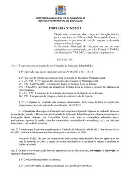 PORTARIA Nº 94/2005 - Prefeitura Municipal de Florianópolis