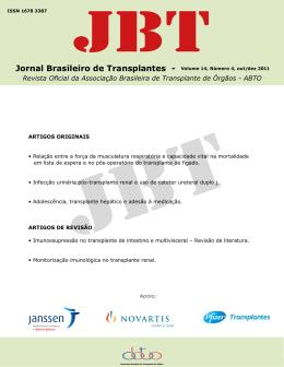 Jornal Brasileiro de Transplantes - Volume 14, Número 4, out/dez