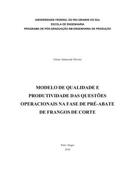 Gilson Adamczuk Oliveira - Prof. Alberto J. Alvares