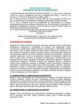 SECRETARIA DE FAZENDA PORTARIA N.º 485, DE 27 DE JUNHO