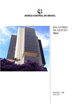 Relatório de Gestão do BCB 2014