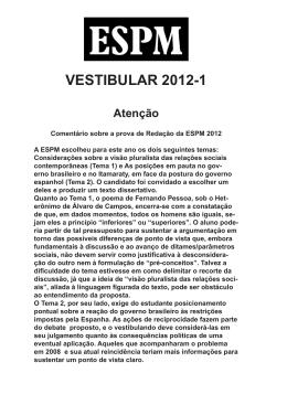 VESTIBULAR 2012-1