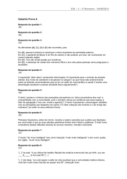 S30 – 3 – 3º Bimestre – 04/09/2012 Gabarito Prova A