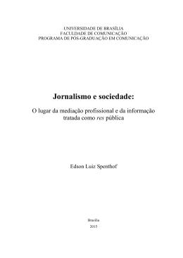 Jornalismo e sociedade: - Repositório Institucional da UnB