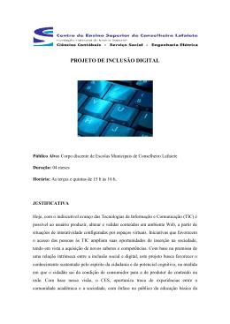 projeto de inclusão digital - CES-CL