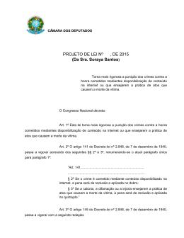 PL 1589/2015 - Câmara dos Deputados