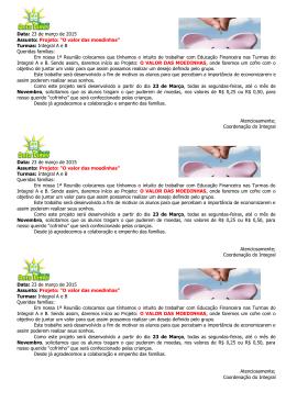 CIRCULAR 021 Projeto Financeiro - Escola Dora Dimer | Escola