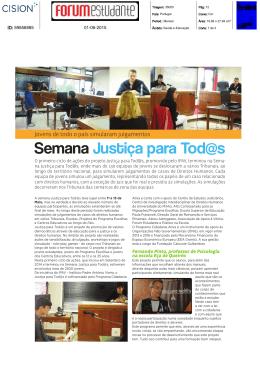 Semana Justiça para Tod@s