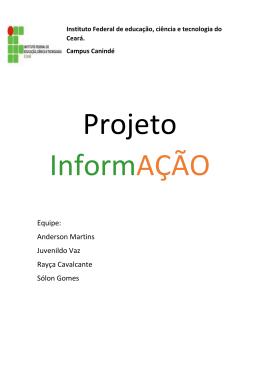 """Projeto """"INFORMAÇÃO"""""""