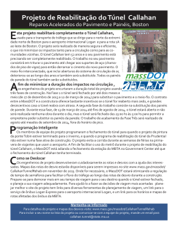 Fact Sheet for the Callahan Tunnel Rehabilitation Project