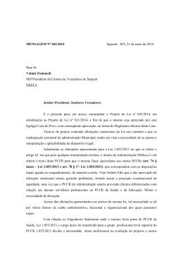 PL 042 – Alteração do PCCRS 1052-2013