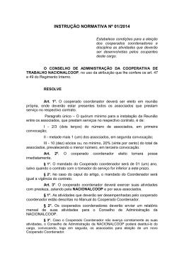 INSTRUÇÃO NORMATIVA Nº 01/2014