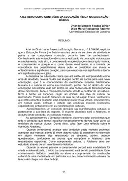 95 ATLETISMO COMO CONTEÚDO DA EDUCAÇÃO FÍSICA