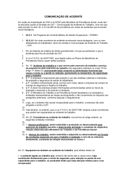 COMUNICAÇÃO DE ACIDENTE