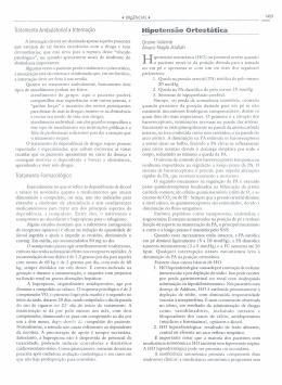 Hipotensão Ortostática - Centro Cochrane do Brasil