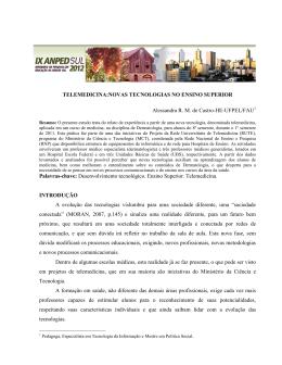 TELEMEDICINA:NOVAS TECNOLOGIAS NO ENSINO SUPERIOR