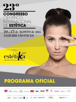 PROGRAMA OFICIAL - Congresso Científico Internacional de Estética