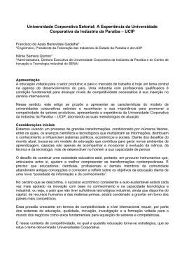 A Experiência da Universidade Corporativa da Indústria da Paraíba