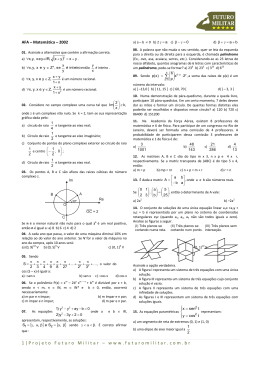 2002 - Matemática - AFA - Projeto Futuro Militar