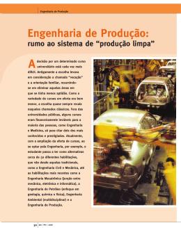 Engenharia de Produção: Rumo ao Sistema de Produção