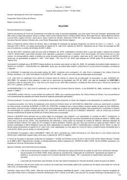 Reg. Col. n° 3365/01 Inquérito Administrativo CVM n° TA 2001/0034