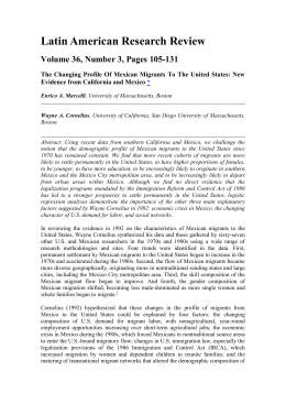 Latin American Research Review Volume 36, Number 3, Pages 105