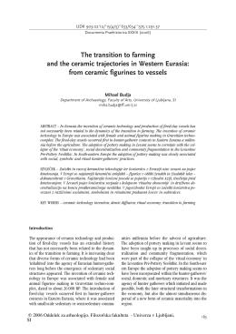 Full Text - Oddelek za arheologijo Filozofske fakultete