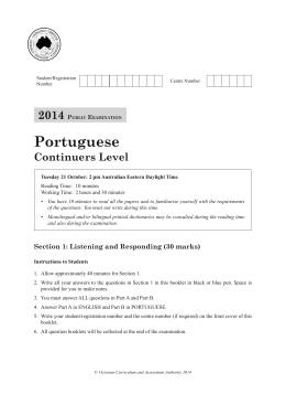 2014 Portuguese Continuers Level public examination