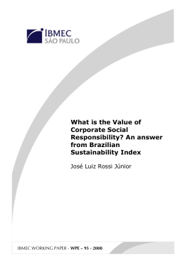 What is the Value of Corporate Social Responsibility?