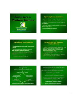 Formulação do Guidelines Formulação do
