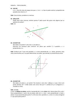 GABARITO Geometria de posicao