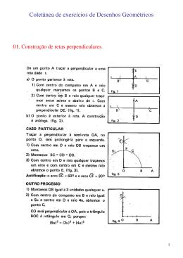 Coletânea de exercícios de Desenhos Geométricos
