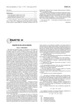 Aviso DR n.º 5454-A/2015 - Câmara Municipal de São João da