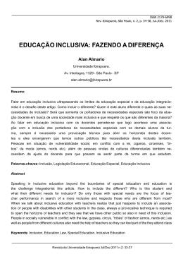 educação inclusiva: fazendo a diferença