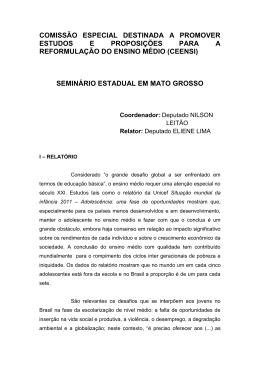 Relatório do Seminário do Mato Grosso