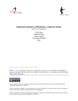 Educação inclusiva, deficiência e contexto social