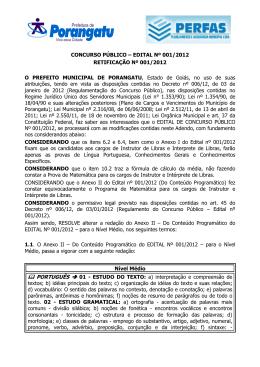 ADENDO EDITAL RETIFICACAO CONCURSO 2012