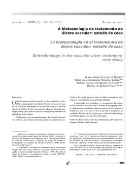 A biotecnologia no tratamento de úlcera vascular: estudo de caso