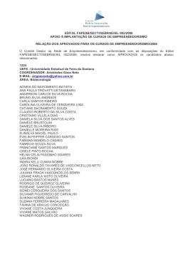Edital 02/2006 - Participantes Aprovados
