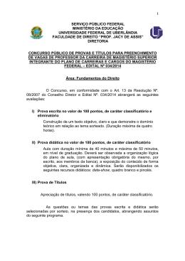 Programa - Área Fundamentos do Direito